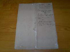 Vente D'Eau : Acte Notarié 1873 Henri De Gratet Vicomte Du Bouchage à Triors & Les Frères Juven De Montmiral, Drôme - Vecchi Documenti
