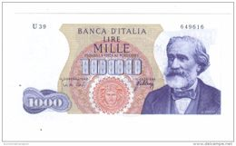 1000 LIRE VERDI I° TIPO 20 05 1966 Q.FDS LOTTO 1494 - 1000 Lire