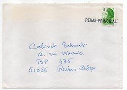 Belle Griffe  REIMS PRINCIPAL  Sur Tp Marianne Liberté B Issu De Feuille - Marcophilie (Lettres)
