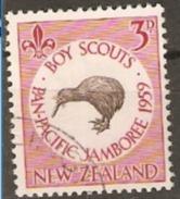 New Zealand 1959 SG 771 3d Scouts Jamboree Fine Used - Oblitérés
