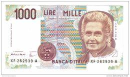1000 Lire Montessori Serie Sostitutiva XF.....a Fds   LOTTO 299 - 1000 Lire