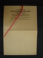 PAD. 215. Ancienne Grande Enveloppe Avec Publicité Des Carrières Roland à Basècles - Publicidad