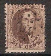 Nr. 14 Met ZELDZAME Puntstempel LP PT 404 Van  WUESTWEZEL ; Staat Zie 2 Scans ! Inzet Aan 24 € ! - 1863-1864 Medallions (13/16)