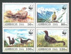 205 AZERBAIDJAN 1994 - Yvert 163/66 - WWF Oiseau - Neuf ** (MNH) Sans Trace De Charniere - Azerbaïdjan