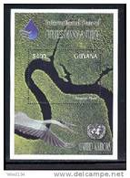 GUYANA   3765  MINT NEVER HINGED SOUVENIR SHEET OF FRESH WATER ; AMAZON RIVER ; BIRDS - Unclassified