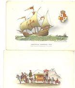 LOTTO  2  CARTOLINE   CARAVELLA SPAGNOLA--  CARROZZA  TIBET - Cartoline