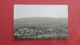 RPPC  Springfield From Pine Hill  Has Crease  Vermont  Ref 2656 - United States