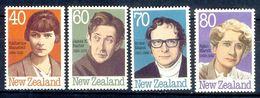 S102- New Zealand. 40c Katherine Mansfield, 60c James K. Baxter, 70c Bruce Mason And 80c Ngaio Marsh New Zealand Authors - New Zealand