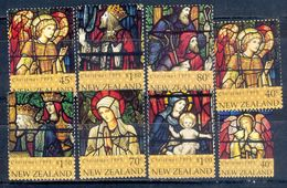 S104- New Zealand 1995 Christmas Stained Glass Windows Set Of 7 Unmounted Mint - New Zealand
