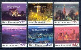 S105- New Zealand 1995, SG 1855-60. NZ Cities At Night. - New Zealand