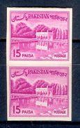 S106- Pakistan 1970 Historical Building Shalimar Garden 20p  Imperf Pair. - Pakistan