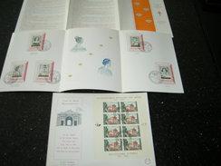 BELG.1962 BL33 FDC & LUXE CARD 1233-1238 38e CAMPAGNE TIMBRES ANTITUBERCULEUX, MUSEE DE LA DYNASTIE (2 Cards) - FDC