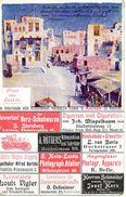 Deutschland Aachen, Aix La Chapelle, Carte Publicitaire De Firmes D'Aachen, Illustration De Suakim (Suez) - Aachen