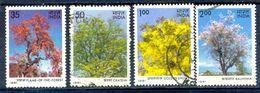 S142- India 1981. Flowering Trees. Nature. Tree. Plant. Flora. Change Season Flower, Fruit - India