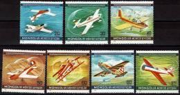 MONGOLIE Avion, Avions, Plane. Yvert PA 122/28 * MLH - Avions