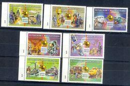 S158- Madagascar Malagasy 1999. UPU. Universal Postal Union 125th Anniversary. Space. Ship. Post Man. - Madagascar (1960-...)