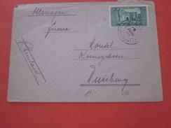 Timbre Seul Sur Lettre  Europe France Ex-colonie & Protectorat- Marrakech Maroc 1891-1938 Lettre & Document-Duisburg - Maroc (1891-1956)