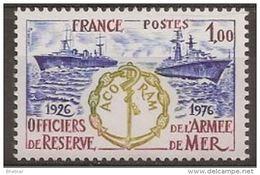 """FR YT 1874 """" Officiers De Réserve Armée De Mer """" 1976 Neuf** - Francia"""
