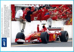 MICHAEL SCHUMACHER - Japan Grand Prix Suzuka 2001.*** BEAUTIFULL LARGE PHOTO *** Ferrari F1 Formula 1 Car Automobile - Autosport - F1