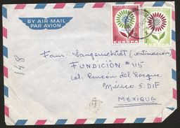 A) 1964 BELGIUM, FLOWERS, CEPT, AIRMAIL, EUROPEAN CONFERENCE OF POSTAL AND TELECOMMUNICATIONS ADMINISTRATIONS, CIRCULATE - Airmail