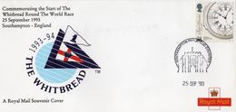 GB LETTRE DEPART DE LA WHITBREAD 1993 VOILE - Vela