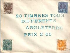 LOT DE 3 Enveloppes Fermées D'origine Contenant Des Timbres-poste - Collections (without Album)
