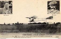 Paris-Madrid 1911  -  Mm Train Et Bonnier, Dont La Chute A Causé La Mort Tragique De M.Berteaux  - CPA - ....-1914: Précurseurs