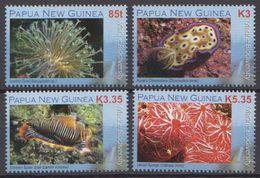 Papua New Guinea MNH Marine Life Set, Sheetlet And SS - Marine Life