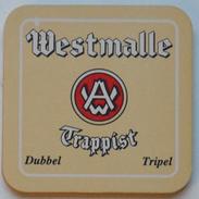 Sous-bock WESTMALLE Trappist Dubbel Tripel Bierdeckel Bierviltje Coaster (CX) - Sous-bocks
