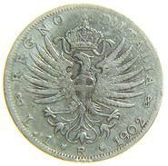 [NC] ITALIA - VITTORIO EMANUELE III - 1 LIRA AQUILA SABAUDA 1902 ARGENTO - 1900-1946 : Víctor Emmanuel III & Umberto II