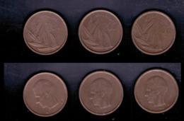 Belgien 3x 20 Franc, 1980, 1982, 1992 - 1951-1993: Baldovino I