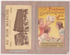 Magasins Bon Marché Paris - Publicité Coloriage Premiers Coups Crayon Pinceau -peinture - V. 1912 Oiseau Enfant Dessin - Publicités