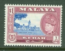 Malaya - Kedah: 1957   Sultan Badlishah - Pictorial     SG100    $1   MH - Kedah