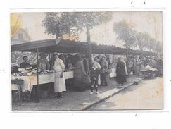 Carte Photo Marché Extérieur, Banc BOUCHER ,   ARCUEIL ?? - Cartes Postales