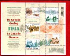 466730942 BELGIE 2014 *** MNH OCB BLOK 220 DE GROOTE OORLOG 100 JAAR EERSTE WERELDOORLOG - Libretti 1962-....
