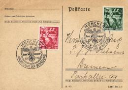 Deutsches Reich 1938 Mi. 660-661 On Cover Special Cancellation 30-Jan-1938 München, Hauptstadt Der Bewegung - Germany