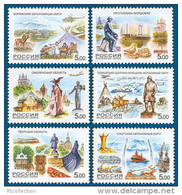 Russia 2005 Russian Regions Architecture Monument Sightseeing View Nature Geography Places Stamps MNH Michel 1224-1229 - 1992-.... Federation