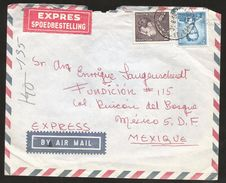 A) 1964 BELGIUM, BAUDOUIN KING, ROYALTY, AIRMAIL, EXPRESS, CIRULATED COVER FROM BRUXELLES TO MEXICO. - Airmail