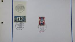 Autographe  P. Gandon Cachet 1969 Et 1972  Du N° 1606  Et  N° 1576  De  1968     A Voir - Autógrafos