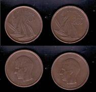 Belgien 2x 20 Franc, 1980, 1982 - 1951-1993: Baudouin I