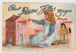 Album à Colorier -librairie Artistique Jeunesse Paris -petites Filles Sages- Velo Poupée Jouet Dessin Lait Tuck 201 - Publicités