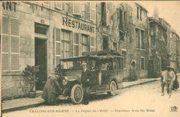 Le Départ De L'Hôtel (Transport De Voyageurs En Car) - Châlons-sur-Marne