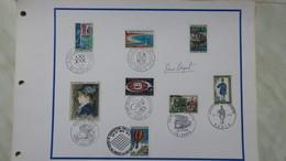 Autographe  P. Béquet  Cachet 1968 Du N°1502/1505/1506 /1515//1549   1969 N°1589 1971    A Voir - Autographes