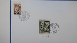 Autographe  J. Combet   Cachet 1968 Du N°1569     A Voir - Autographes