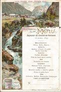 MENU  LIEBIG  /  Déjeuner  Du Conseil  De  Révision 1899  - Hôtel  De  Lyon   DOURDAN  /  LANDRO, Vallée De L ' Ampezzo - Menus