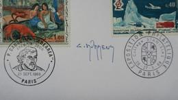 Autographe  Durrens   Cachet 1968 Du N°1568 Et 1574     A Voir - Autographes