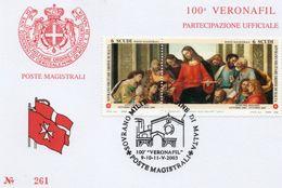 ORDRE DE MALTE OBLITERATION EXPO PHILA VERONA 2003 - Malte (Ordre De)