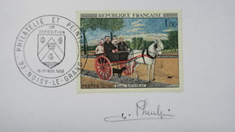Autographe  J. Pheulpin   Cachet 1968 Du N°1517     A Voir - Autographes