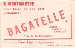 Buvard Bagatelle Le Vin Des Connaisseurs 21 Cm X 14 Cm - Blotters