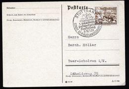 A4791) DR Karte Mit Sonderstempel Stuttgart Ausstellung 8.-16.1.38 - Briefe U. Dokumente